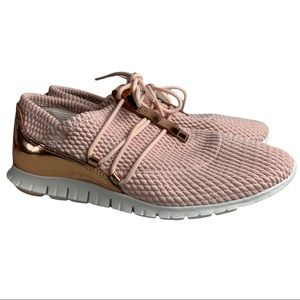 Cole Haan Peach Blush-rose Gold Zerogrand Quilted W12918 Sneakers Size 8B